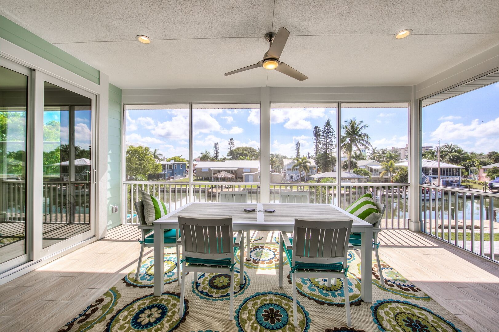 Covered Patio at Vacation Home Rental In Fort Myers Beach Florida
