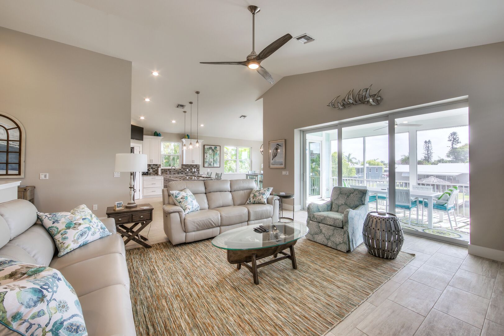 Living Area Next to Outdoor Patio at Tidewater