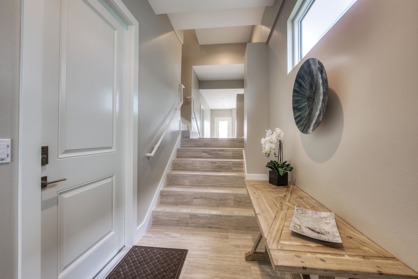 Hallway with Stairs Leading to other Rooms