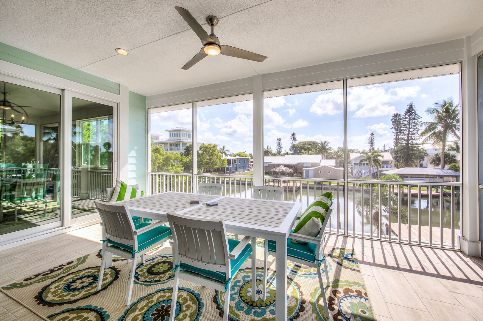 Outdoor Patio at Vacation Home Rental In Fort Myers Beach Florida