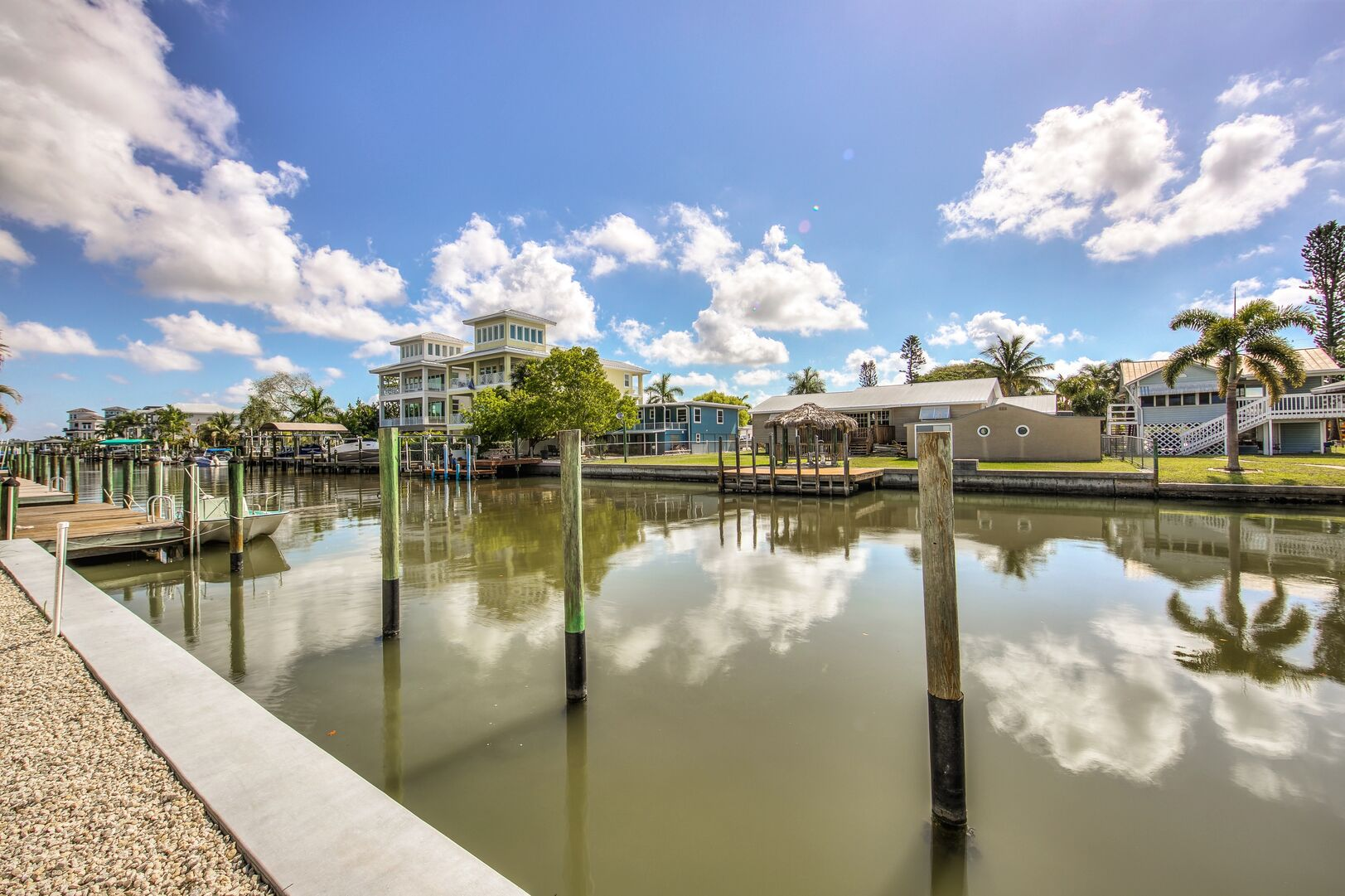 Dock at Vacation Home Rental In Fort Myers Beach Florida