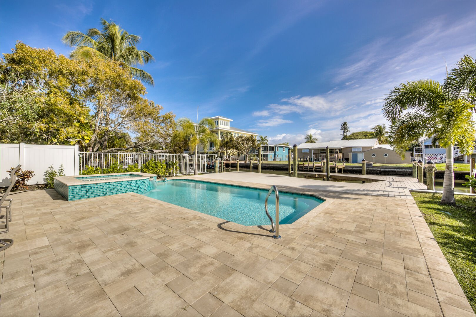 Pool and Hot Tub at Vacation Home Rental In Fort Myers Beach Florida