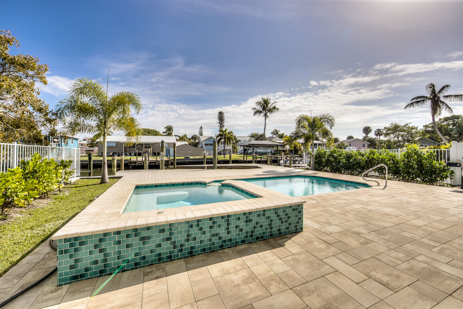 Hot Tub at Vacation Home Rental In Fort Myers Beach Florida