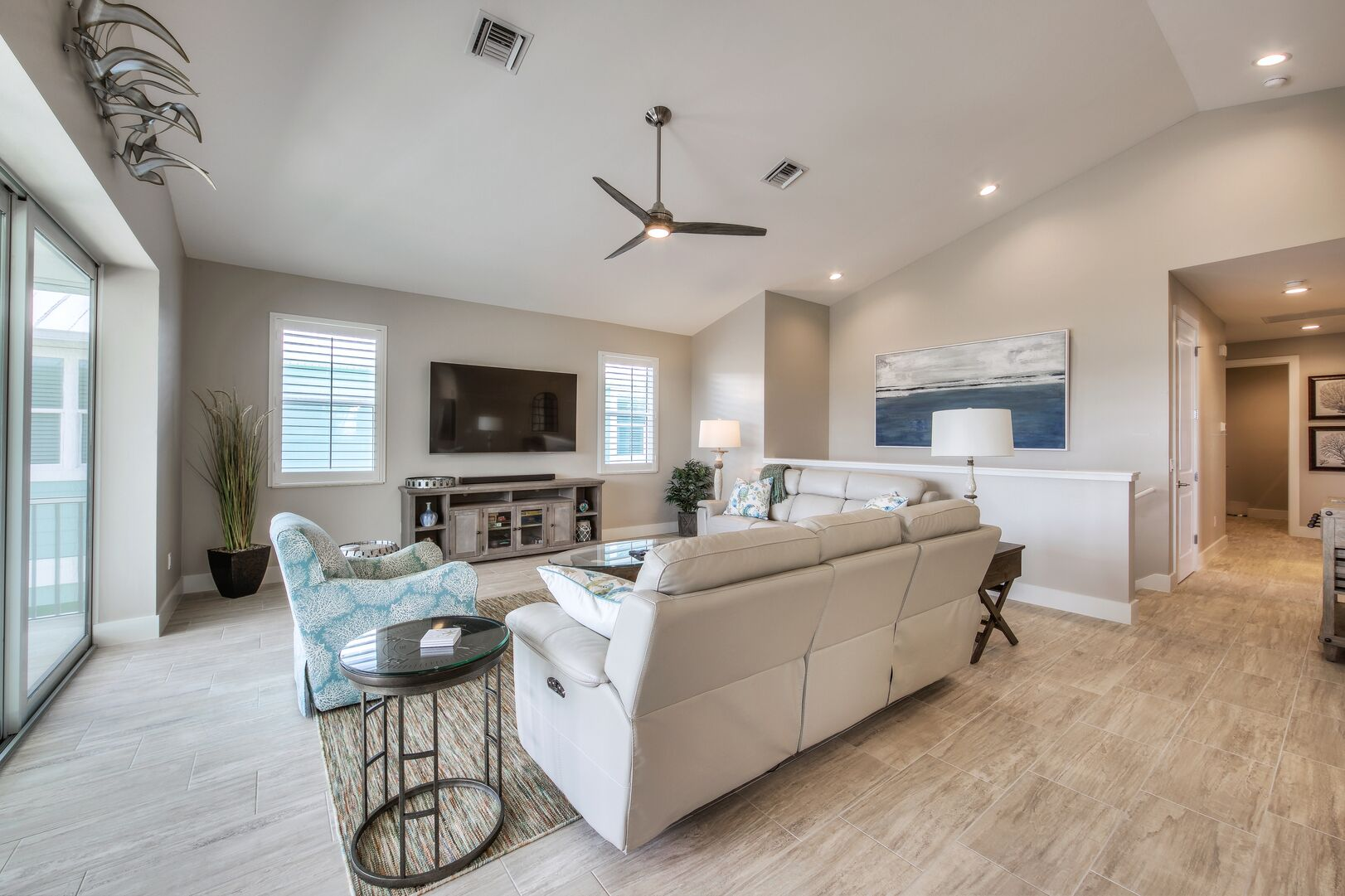 Large, Open Living Area at Tidewater