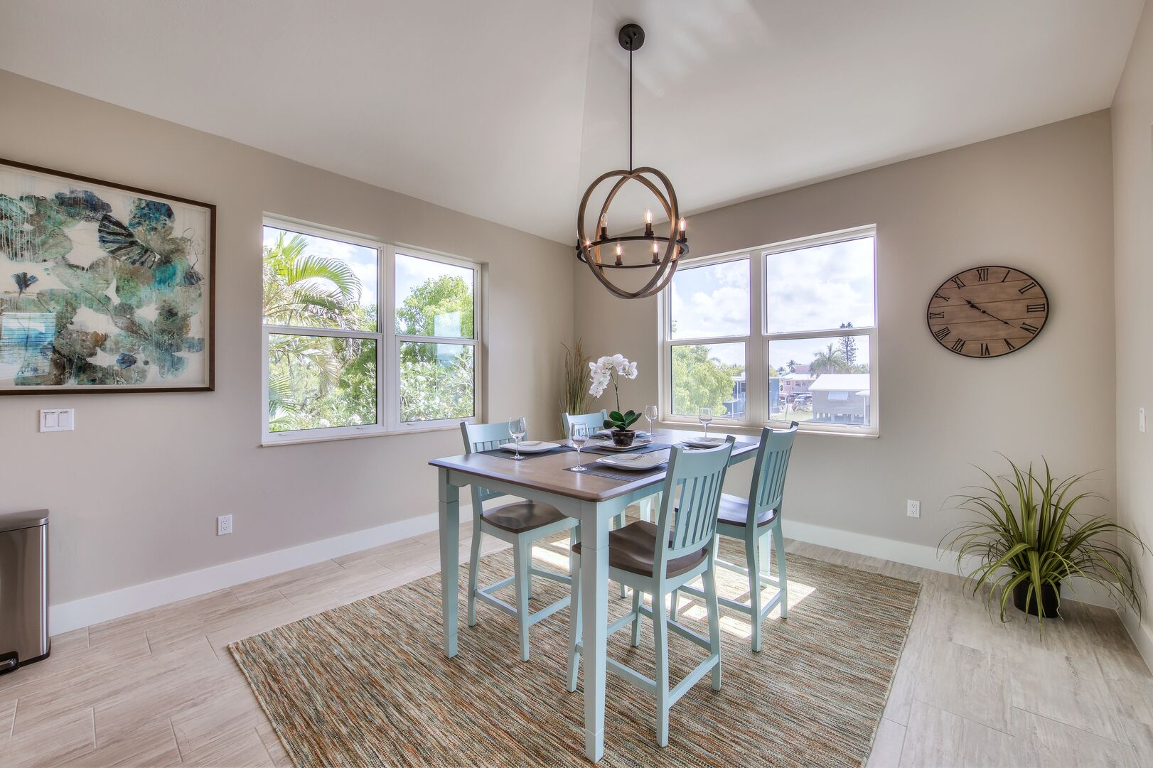 Dining Area at Vacation Home Rental In Fort Myers Beach Florida