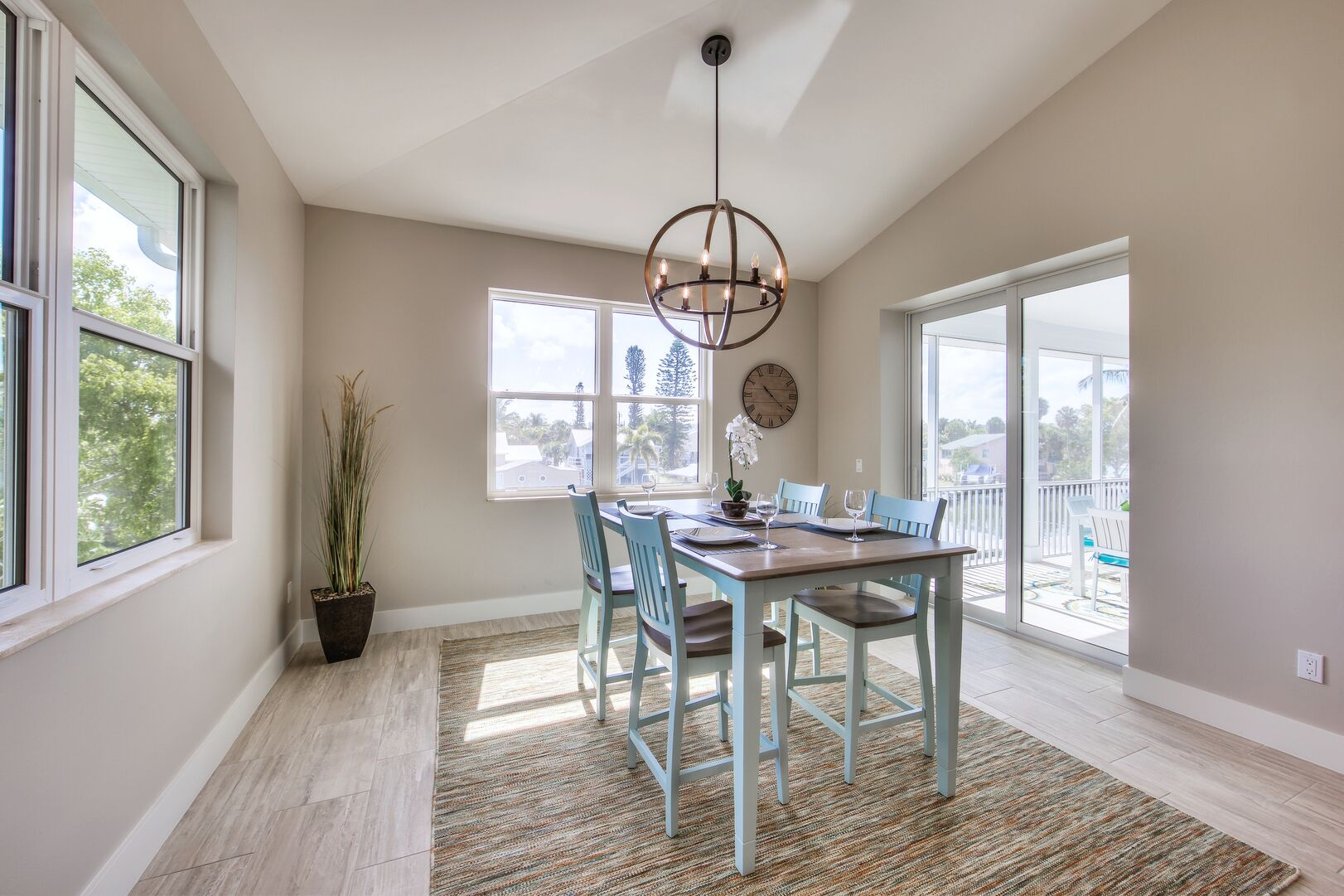 Dining area With Walk-out to Patio