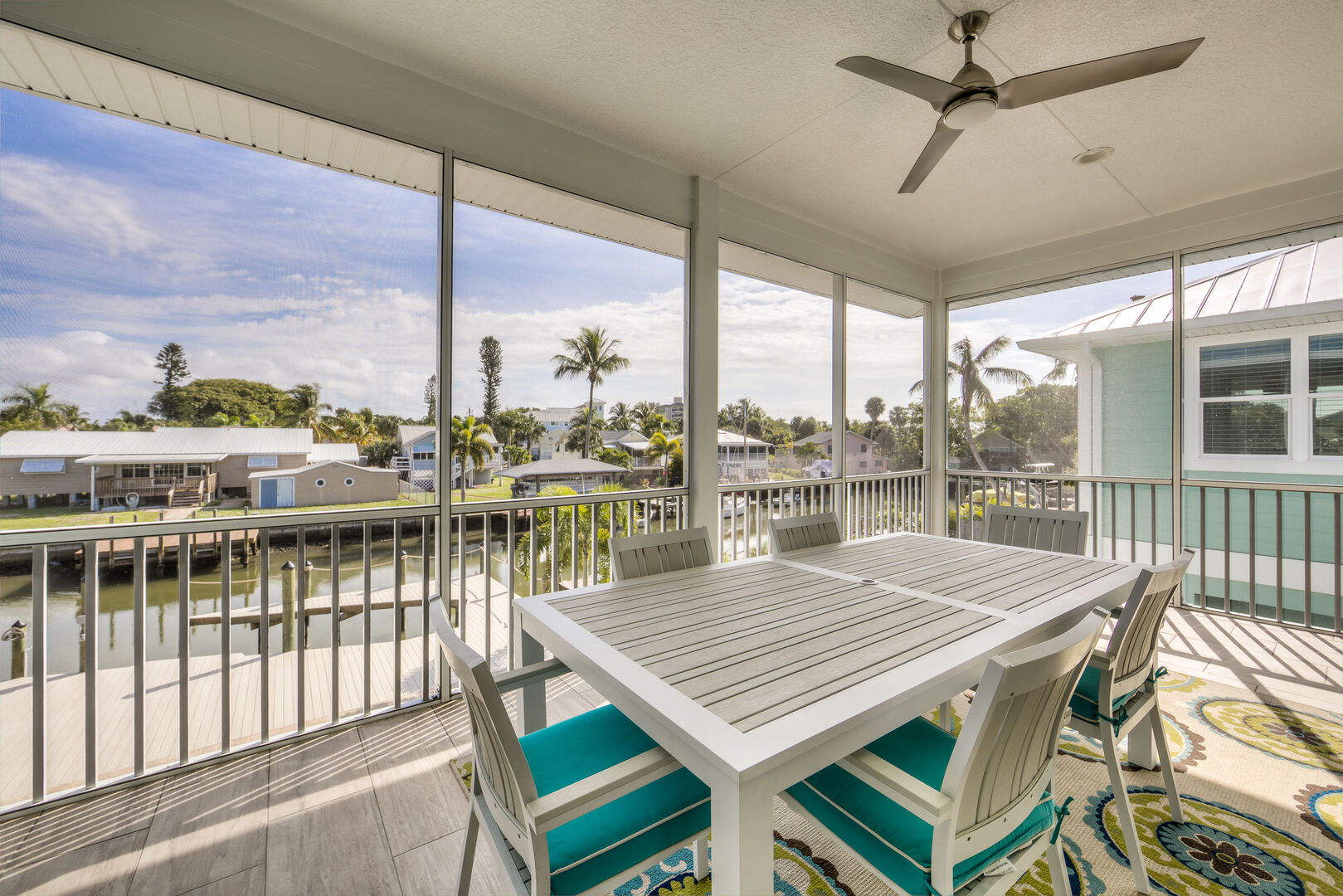 Outdoor Dining Area at Vacation Home Rental In Fort Myers Beach Florida