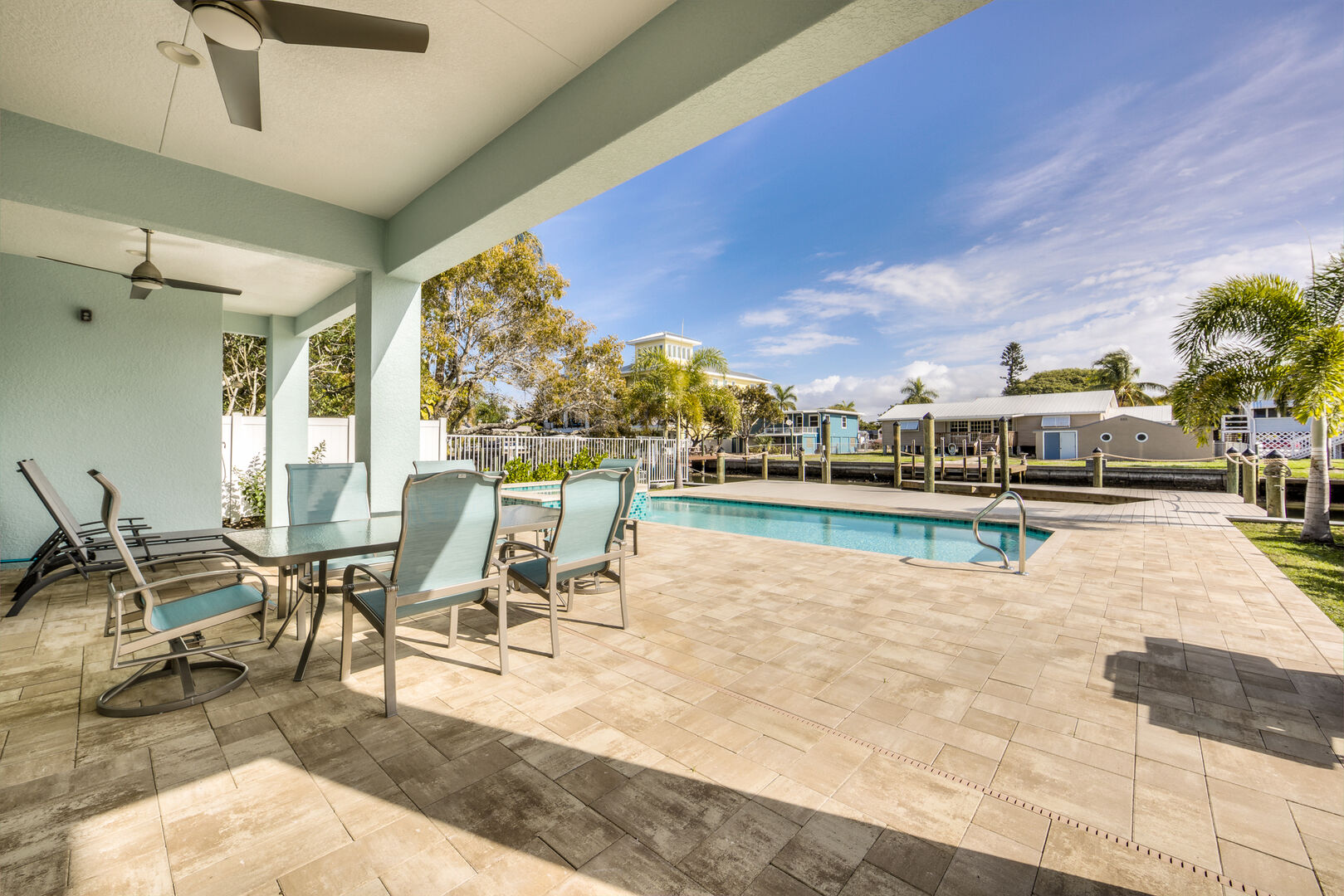 Outdoor Seating and Pool area at Tidewater