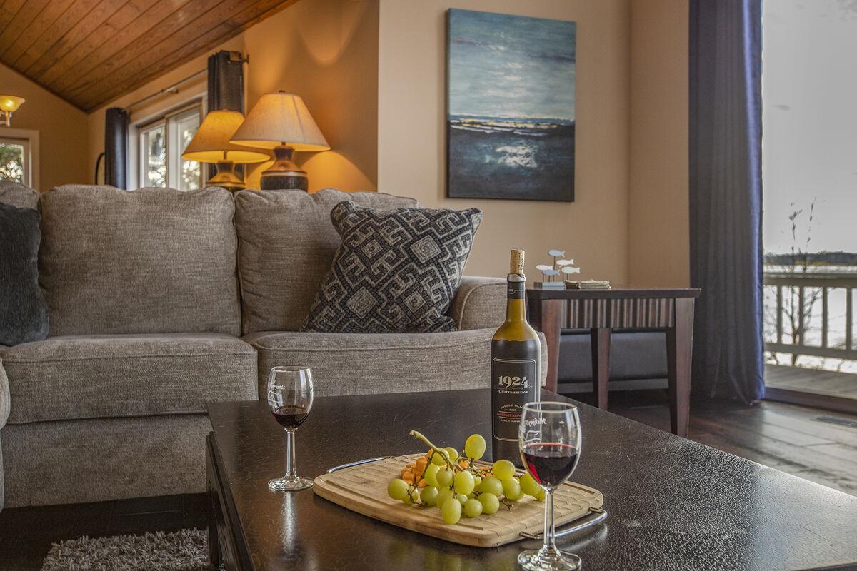 Enjoy wine while overlooking Smith Mountain Lake