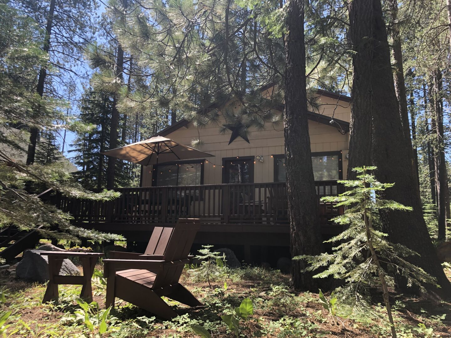 Exterior View of our Camp Howdy Rental Property