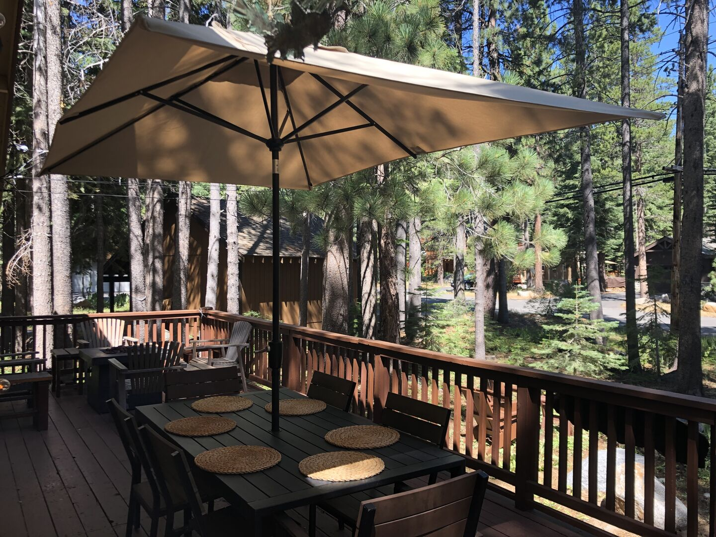 Outdoor Seating on the Deck at our Vacation Rental in Lake Tahoe