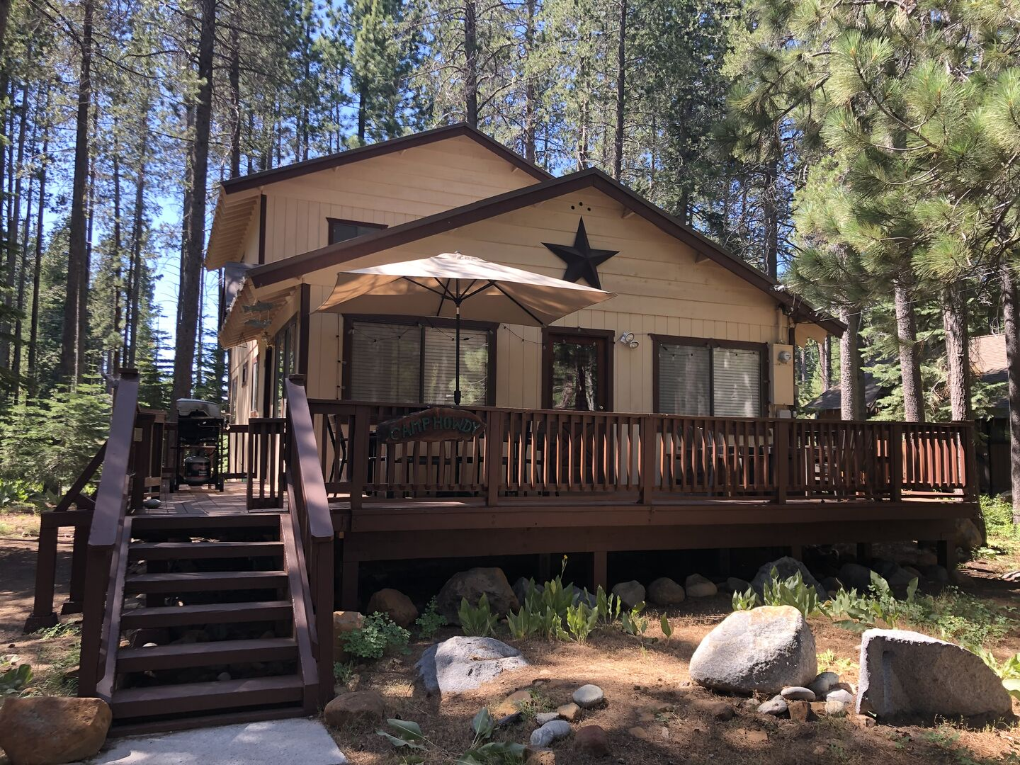 Exterior View of Camp Howdy in Tahoe