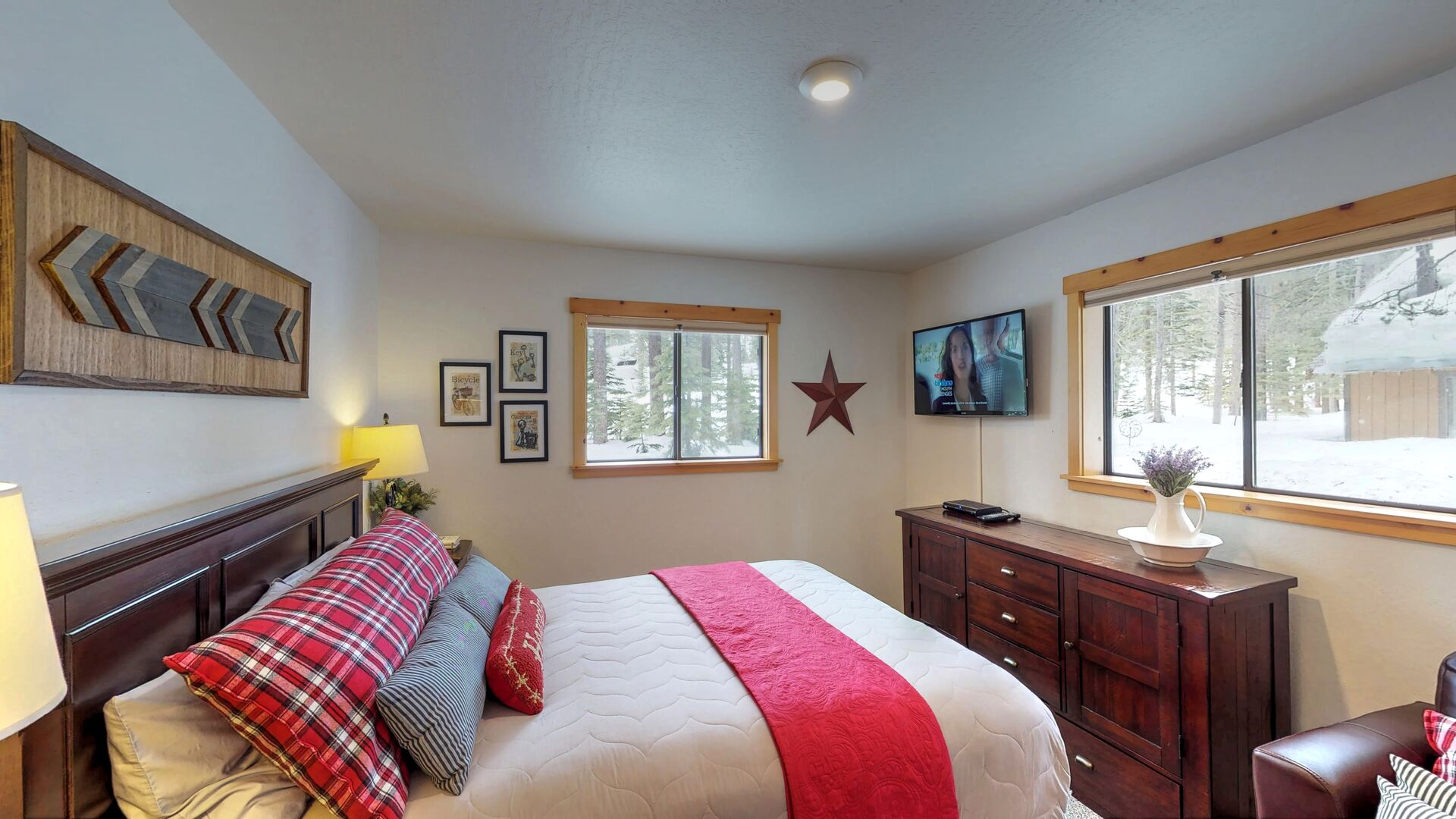 Large Bedroom Featuring Lots of Natural Light and Great Views