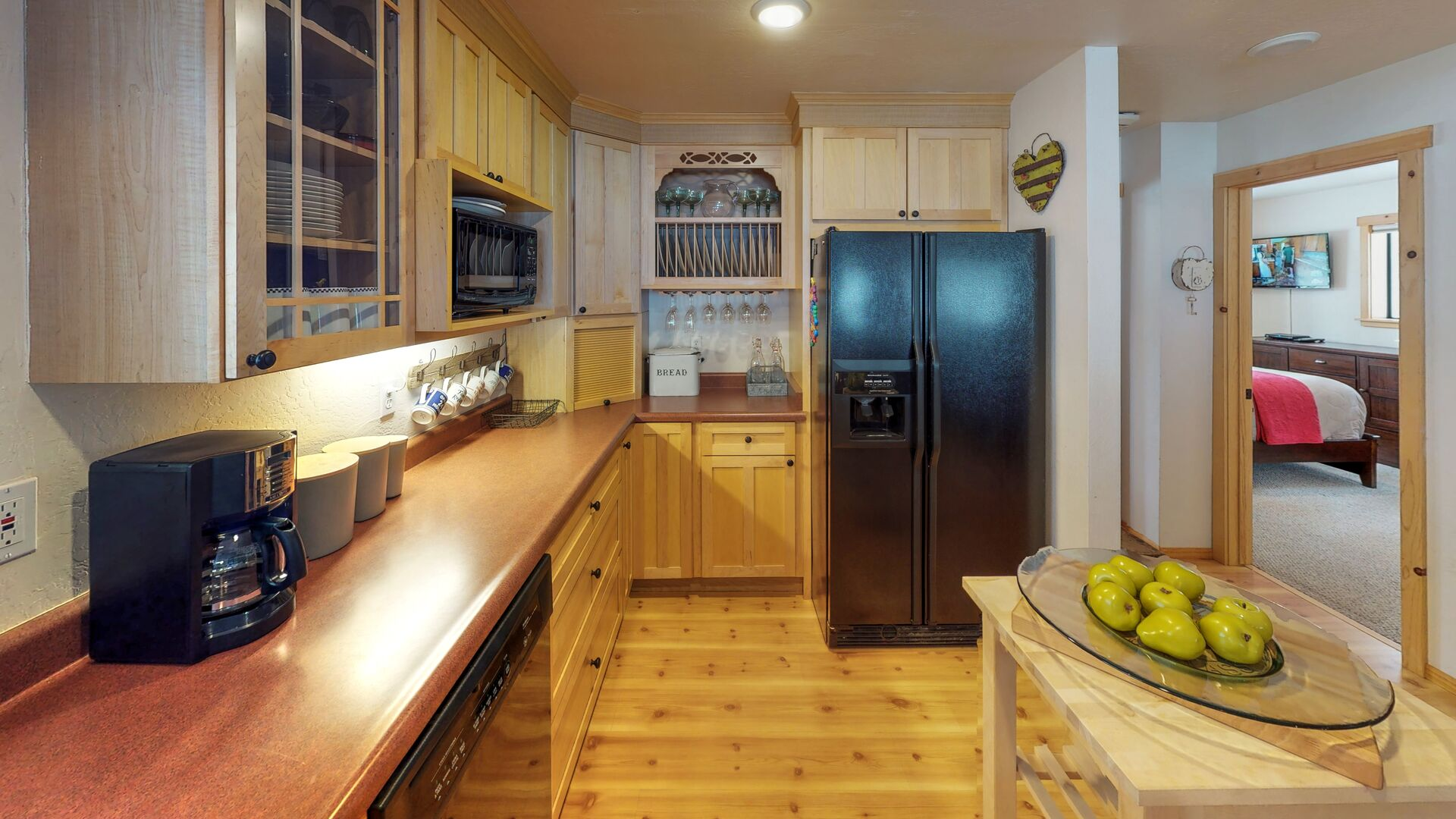 Camp Howdy's Kitchen with Upgraded Appliances