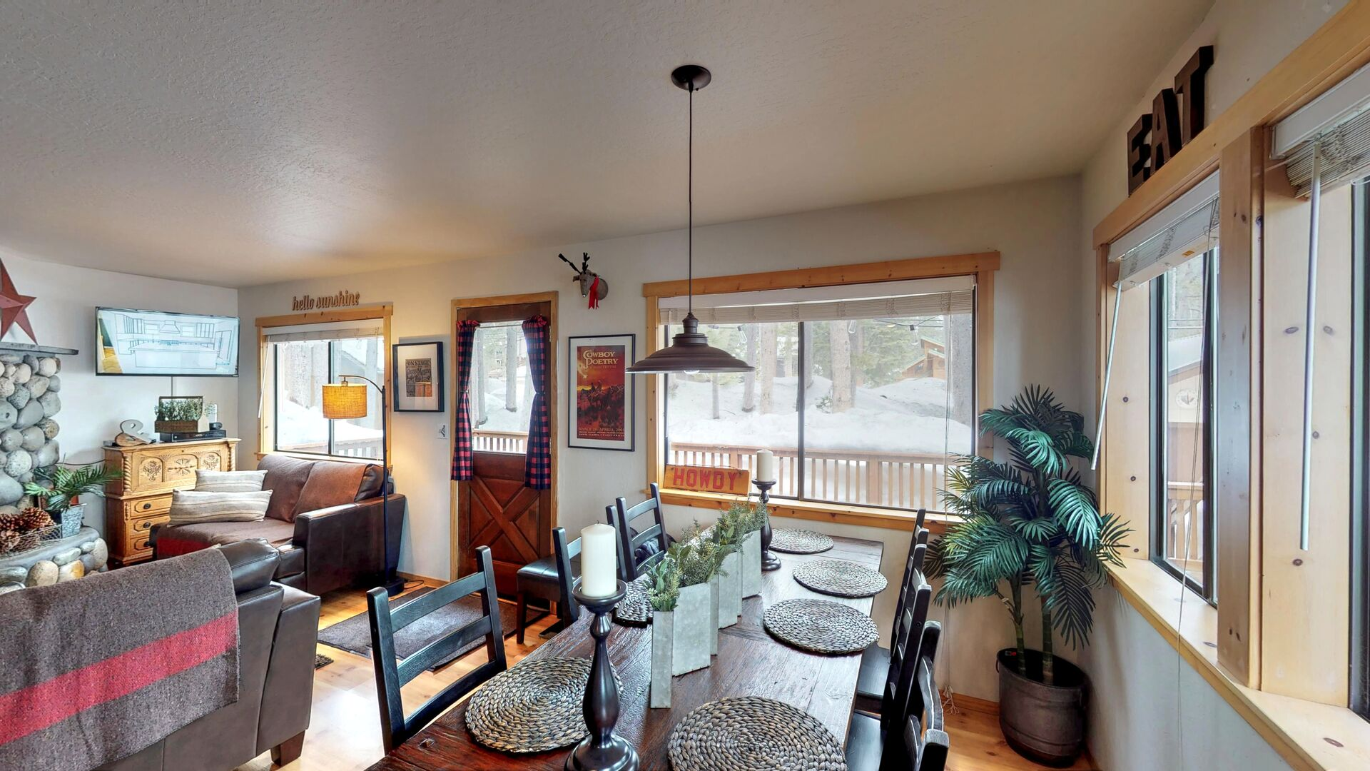 Large Dining Table in our Vacation Rental in Lake Tahoe