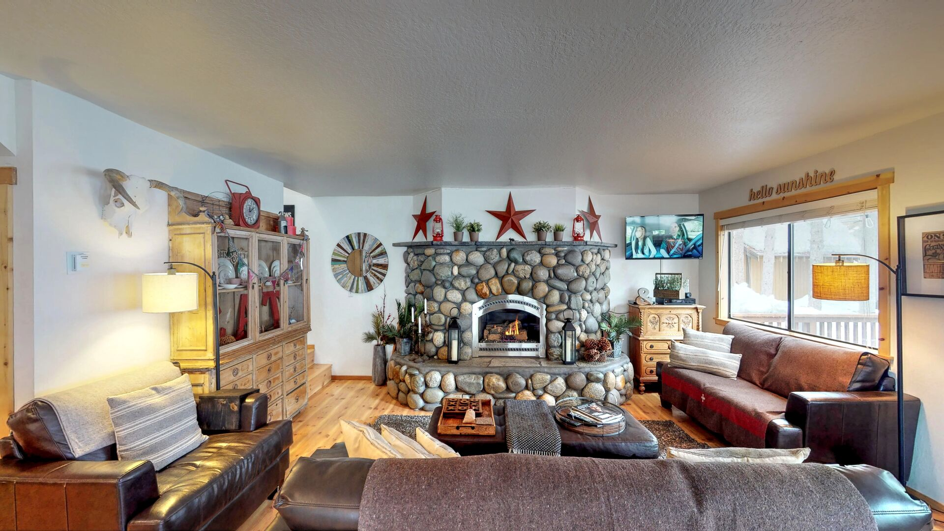 Camp Howdy's Living Room Features Plenty of Seating
