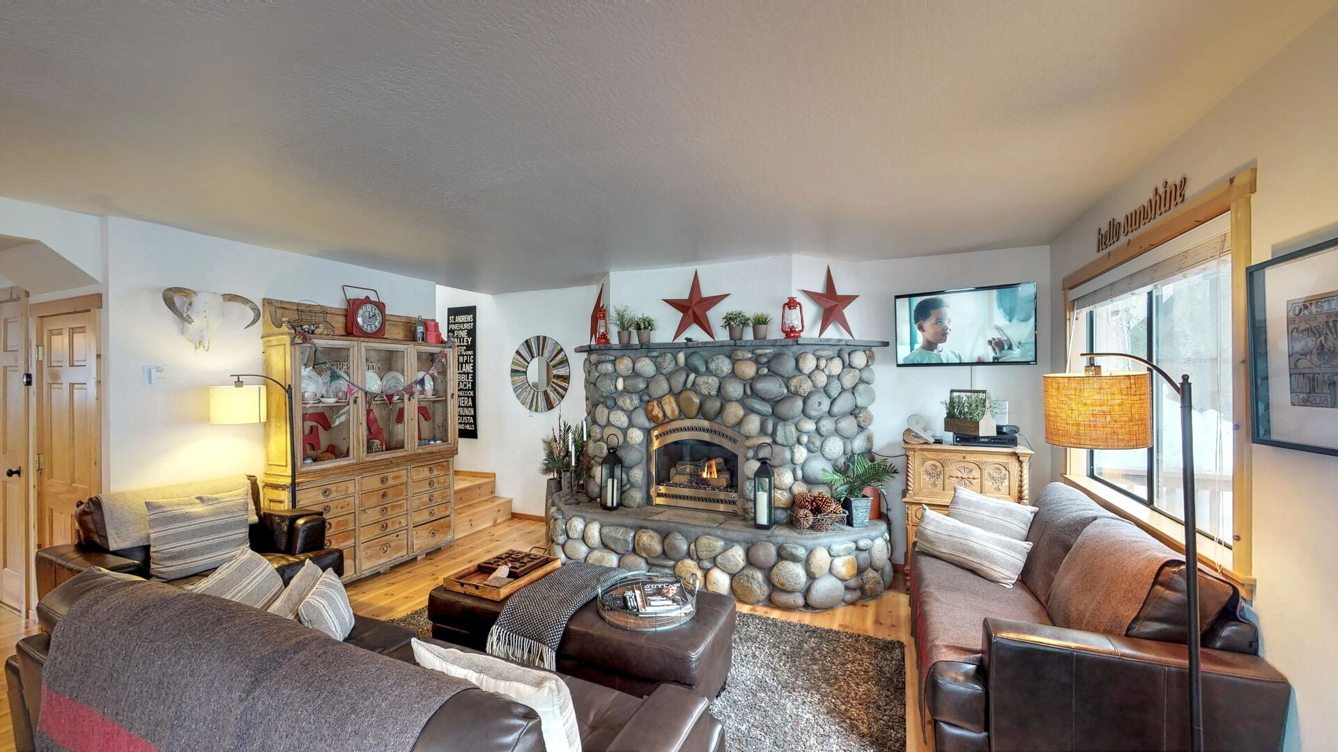 Furnished Living Room in our Vacation Rental in Lake Tahoe