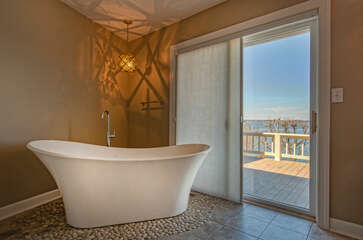 Large Soaking Tub with a View