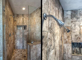 Luxurious Walk-In Shower in the Bathroom