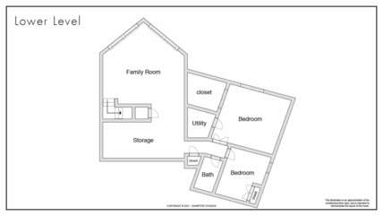 Lower Level Floor Plan of our Ancora Point Rental