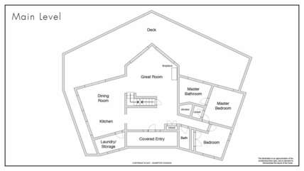 Main Level Floor Plan at our Ancora Point Rental