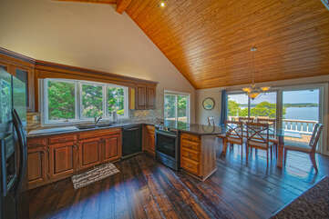 Open Kitchen Offers Great Views as Well