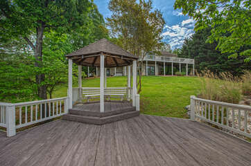 Gazebo Near the Water at our Smith Mountain Lake House Rental