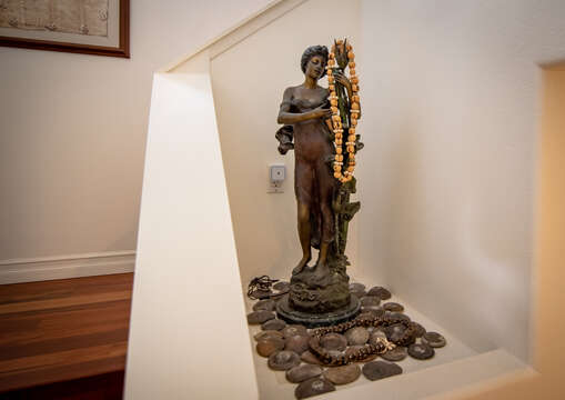 Stairwell with statue