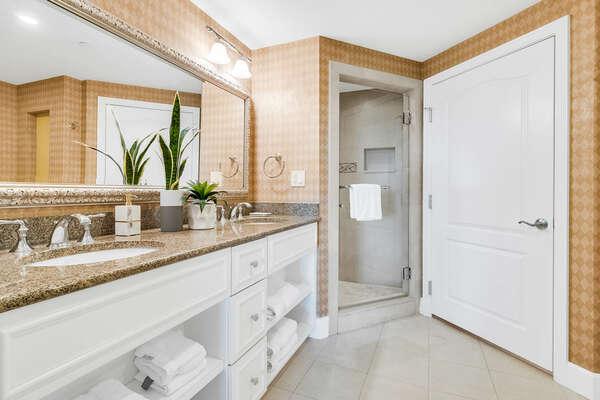 Ensuite bathroom with walk in shower