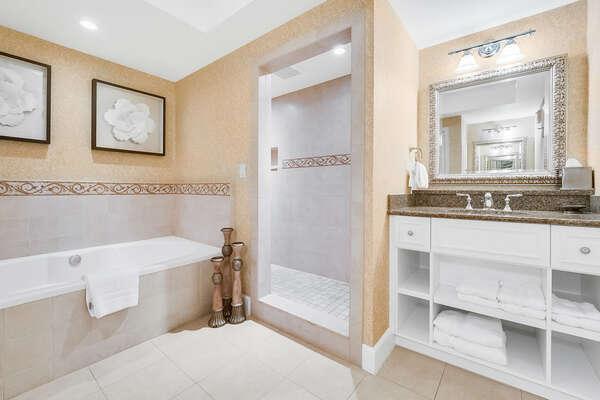 The lavish ensuite bathroom