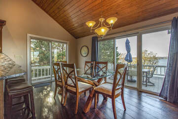 Dining Area and Kitchen in our Smith Mountain Lake House Rental