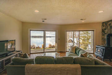 Lower Level Living Space Overlooking the Lake