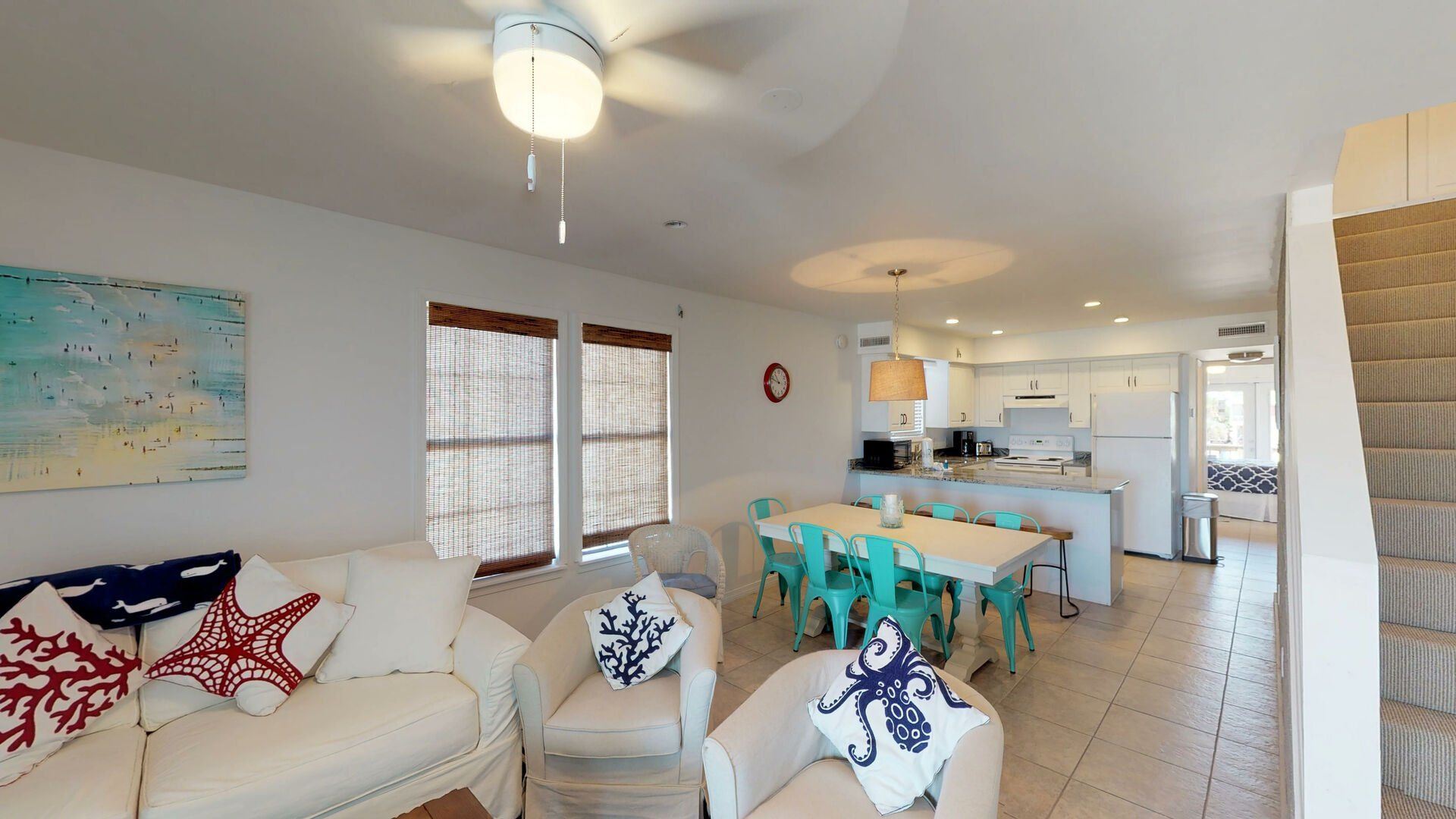 Open Concept from Living Area to Kitchen