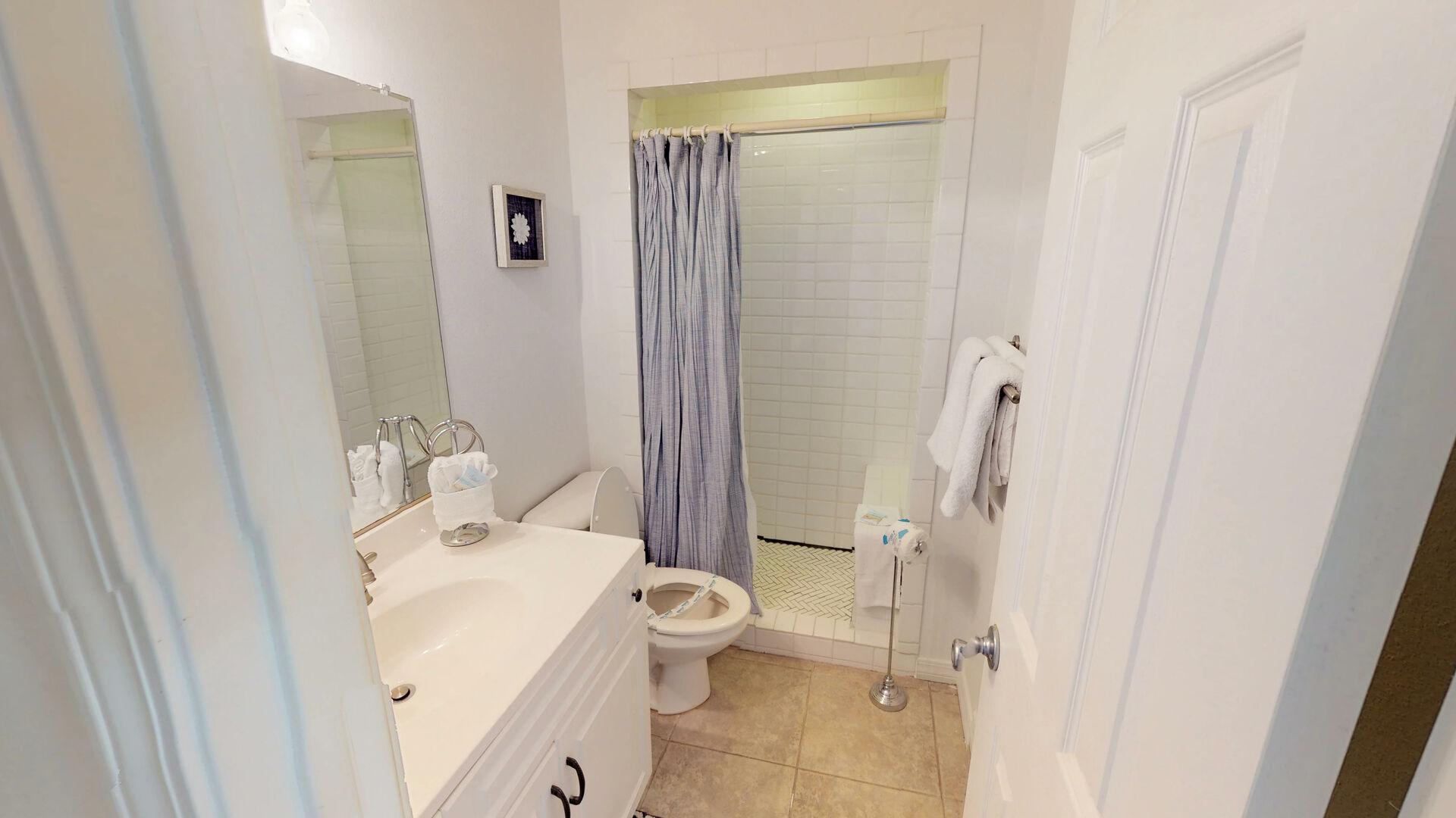 First floor hall bathroom
