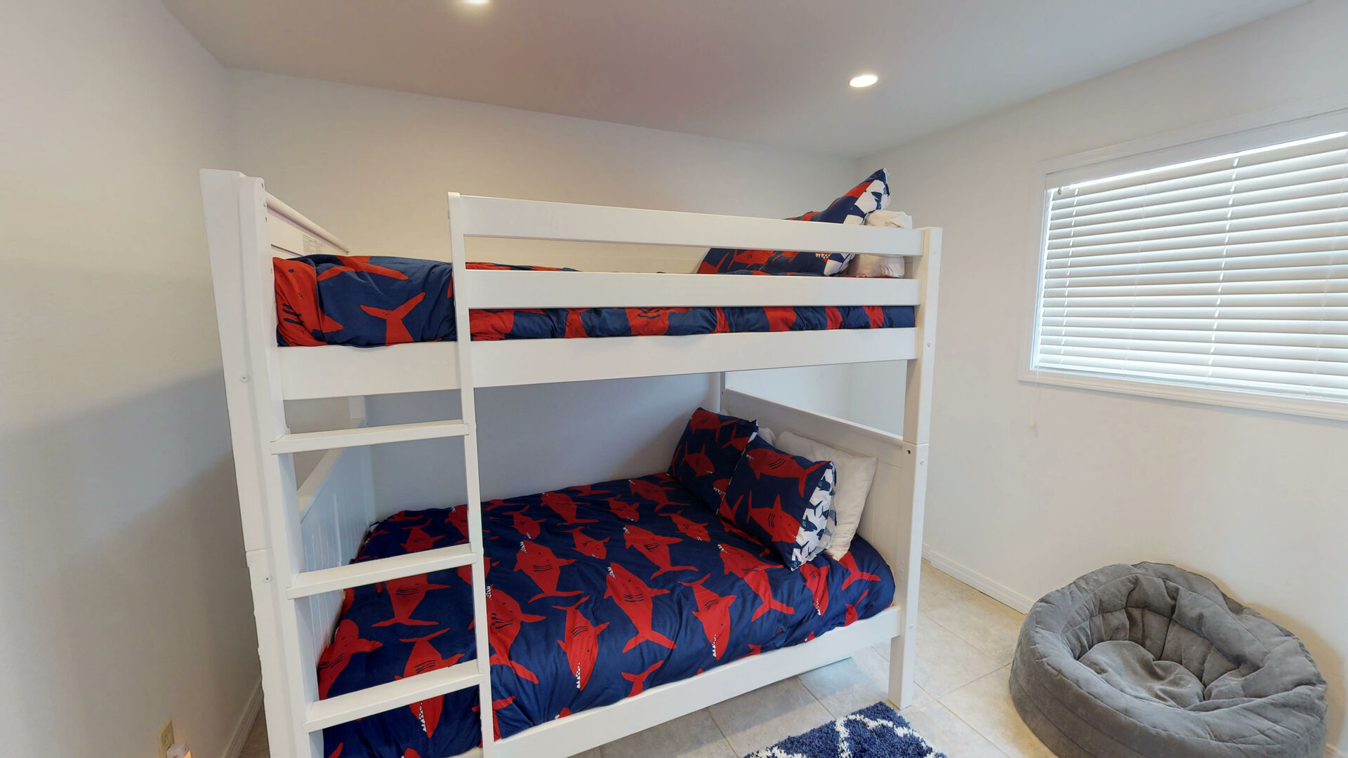 Upstairs Bunk Room with Full Bunk Bed and Pull-Out Trundle