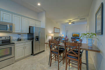 The casita with a bedroom, kitchen, great room and bath adds another appealing dimension to our vacation home