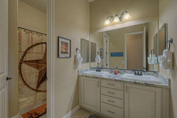 The second, third and fourth bedrooms share the second bath with a tub/shower combination