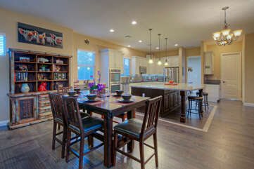 Dining area is ideal for formal or informal gatherings with friends and family
