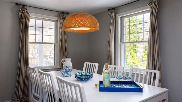 Dining room with seats for 6 - 790 Queen Anne Road Harwich- Cape Cod New England Vacation Rentals