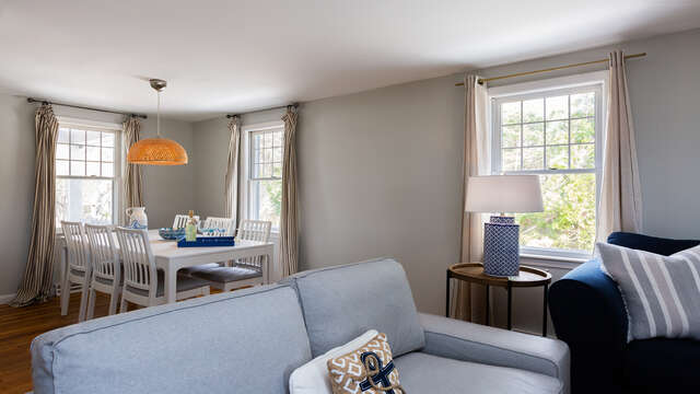 Open concept living and dining area - 790 Queen Anne Road Harwich- Cape Cod New England Vacation Rentals