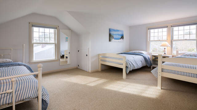 Bedroom 4- 3 twins.  790 Queen Anne Road Harwich- Cape Cod New England Vacation Rentals