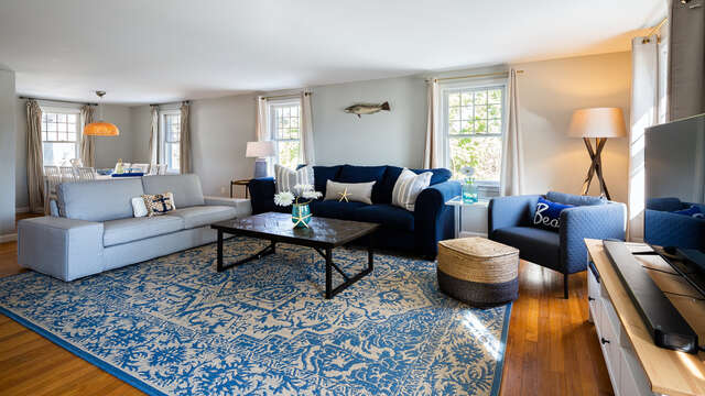 Plenty of comfy seating - 790 Queen Anne Road Harwich- Cape Cod New England Vacation Rentals