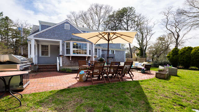 Lot of grassy areas for Fido and the kids - 790 Queen Anne Road Harwich- Cape Cod New England Vacation Rentals