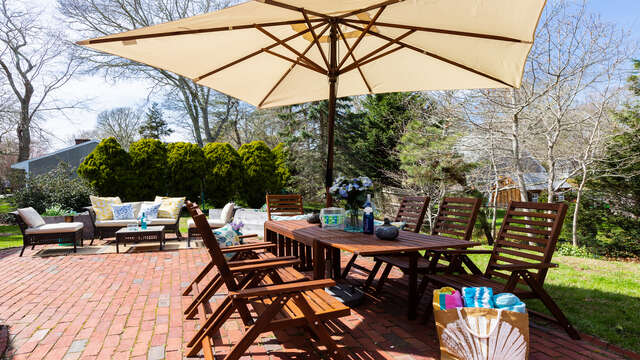 Outside living at its best - 790 Queen Anne Road Harwich- Cape Cod New England Vacation Rentals