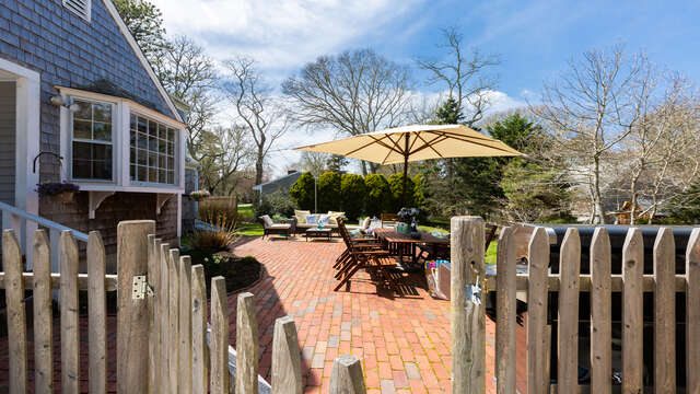 Full patio with dining and entertaining areas - 790 Queen Anne Road Harwich- Cape Cod New England Vacation Rentals