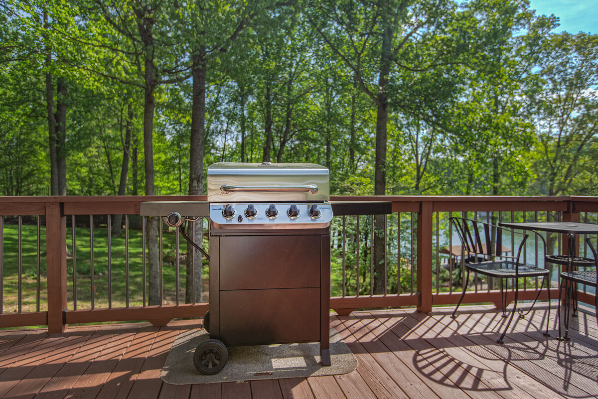 Grill on second floor deck