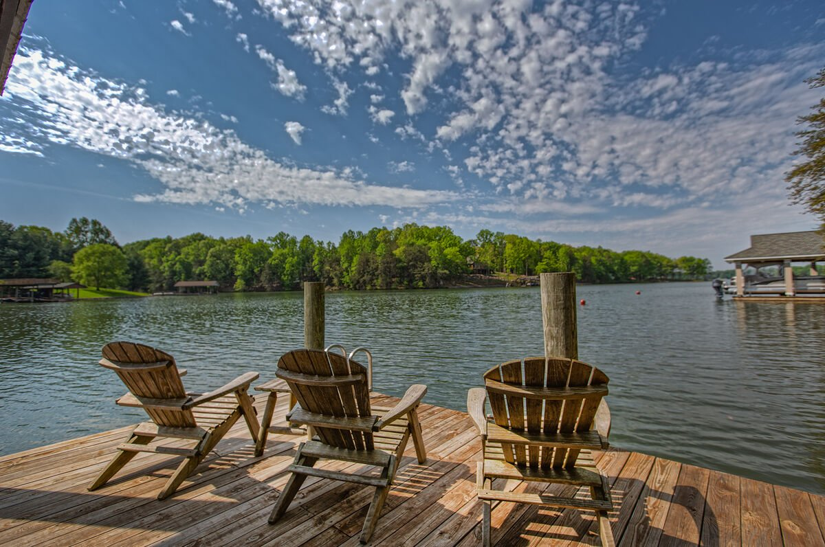 Relax on the Dock at this Smith Mountain Lake vacation house rental, Deep water