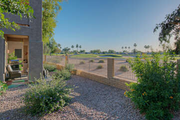 The back porch will be your favorite place to relax and enjoy the fairway views as well as the warm and sunny climate
