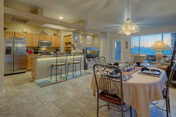 Home features an open floor plan with excellent view of golf course from great room