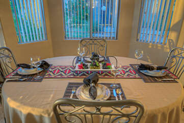 Dining area for your choice of formal or casual meals